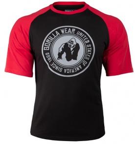 Gorilla Wear Pánské tričko Texas T-shirt Black/Red