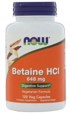 Now Foods Betaine HCI 648 mg 120 kapslí