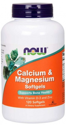 Now Foods Calcium & Magnesium with Vitamin D3 & Zinc 120 kapslí