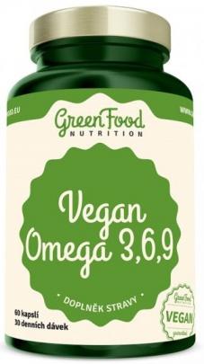 GreenFood Vegan Omega 3-6-9 60 kapslí