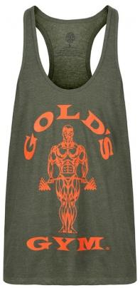 Gold's Gym Pánské tílko GGVST003 zelená/oranžová