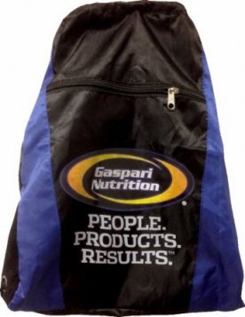 Gaspari Nutrition Blue Drawstring Bag