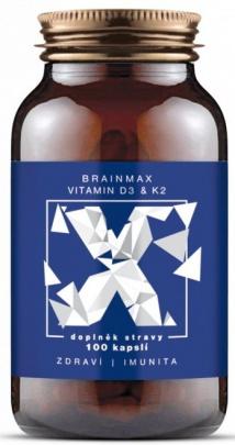 Brainmax Vitamin D3 & K2, D3 5000 IU / K2 jako MK7 150 mcg 100 kapslí