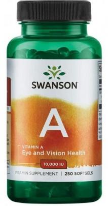 Swanson Vitamin A 10000 IU 250 kapslí