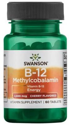 Swanson Vitamin B12 Methylcobalamin 60 tablet