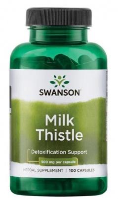 Swanson Milk Thistle (Ostropestřec mariánský) 500 mg 100 kapslí