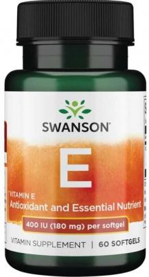 Swanson Vitamin E 400 IU 60 kapslí