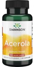 Swanson Acerola (přírodní vitamin C) 500 mg 60 kapslí