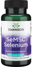 Swanson SeMSC Selenium 200 mcg 120 kapslí