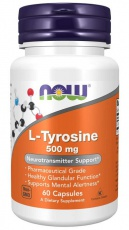 Now Foods L-Tyrosine 500 mg 120 kapslí