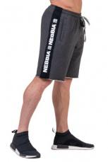 Nebbia Pánské šortky Essential 177 šedá