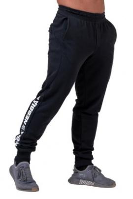 Nebbia Pánské joggersy Limitless s lampasem 185 černá