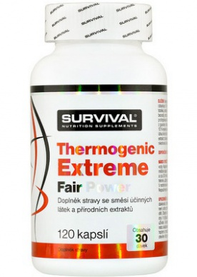Survival Thermogenic Extreme Fair Power 120 kapslí + Thermogenic Fair Power 60 kapslí ZDARMA