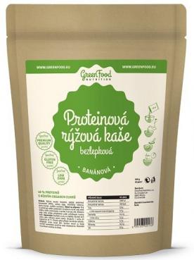 GreenFood Rýžová proteinová kaše bez lepku a laktózy 500g - kakaová VÝPRODEJ(POŠK.OBAL)