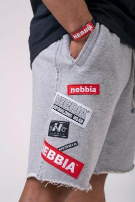 Nebbia Pánské šortky Boys 178 světle šedá