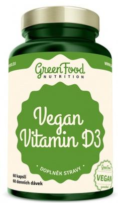 GreenFood Vegan Vitamin D3 60 kapslí