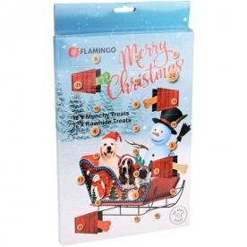 Flamingo Adventní kalendář Munchy/RAW pamlsky pro psy
