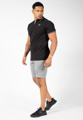 Gorilla Wear Pánské polo tričko Delano Polo Black/White