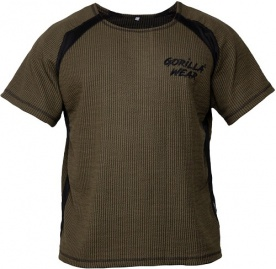 Gorilla Wear Augustine Old School Work Out Top Army Green