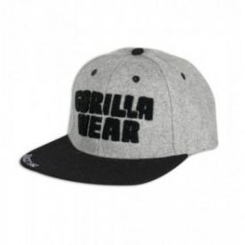 Gorilla Wear Soft Text Flat Brim Gray/Black