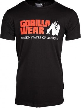 Gorilla Wear Pánské tričko s krátkým rukávem Classic T-shirt Black