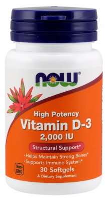 Now Foods Vitamin D3 2000 IU