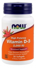 Now Foods Vitamin D3 2000 IU
