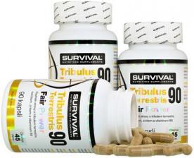 Survival Tribulus Terrestris 90 Fair Power® 90 kapslí 2+1 ZDARMA