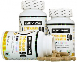Survival Tribulus Terrestris 90 Fair Power® 90 kapslí 2+1 ZDARMA
