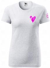 Fitness007 Dámské tričko světle šedé #musíšfurt