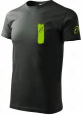 Fitness007 Pánské tričko tmavě šedé #musíšfurt