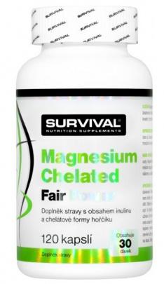 Survival Magnesium Chelated 120 kapslí + Zinc Chelated 100 tablet za zvýhodněnou cenu