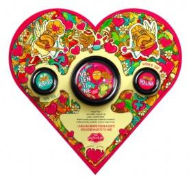 Lifelike Valentýnské srdce 300 g - kešu s bílou čokoládou + maliny a kakao