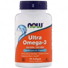 Now Foods Ultra Omega 3 500 EPA/250 DHA 90 kapslí