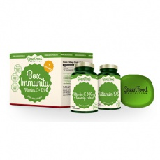 GreenFood Box Immunity Vitamín C a D3 + pillbox 60 + 60 kapslí