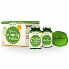GreenFood Junior Immunity & Prebiotics + pillbox 60 + 90 kapslí