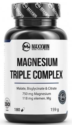 MaxxWin Magnesium Triple Complex 180 kapslí + Vitamin C 500 mg s Echinacea 125 kapslí ZDARMA