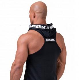 Nebbia Pánské tílko s kapuckou Limitless No Excuses 173 černá