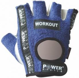 Power System rukavice WORKOUT modré DOPRODEJ