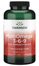 Swanson Muli Omega 3-6-9 120 kapslí
