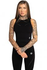 Gym Glamour Top Asymetrický Black