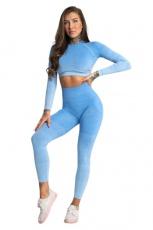 Gym Glamour Legíny Bezešvé Blue Ombre