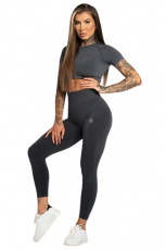 Gym Glamour Legíny Bezešvé Second Skin Dark Grey