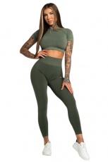 Gym Glamour Legíny Bezešvé Second Skin Khaki