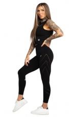 Gym Glamour Legíny Asymetrické Black