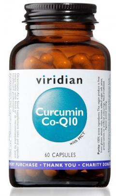 Viridian Curcumin Co-Q10 (Kurkumin a Koenzym Q10) 60 kapslí
