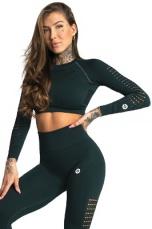 Gym Glamour Crop Top Evergreen