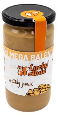 Lucky Alvin Arašídový krém mega balení jemné arašídy 750 g