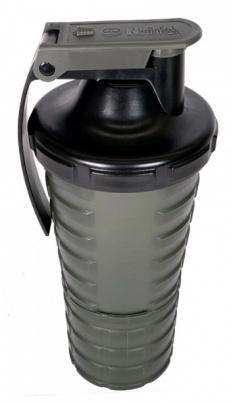 Nuclear Nutrition Šejkr 600 ml s dávkovačem - černo/zelený