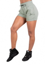 Gorilla Wear Dámské šortky Pixley Sweatshorts Light Green